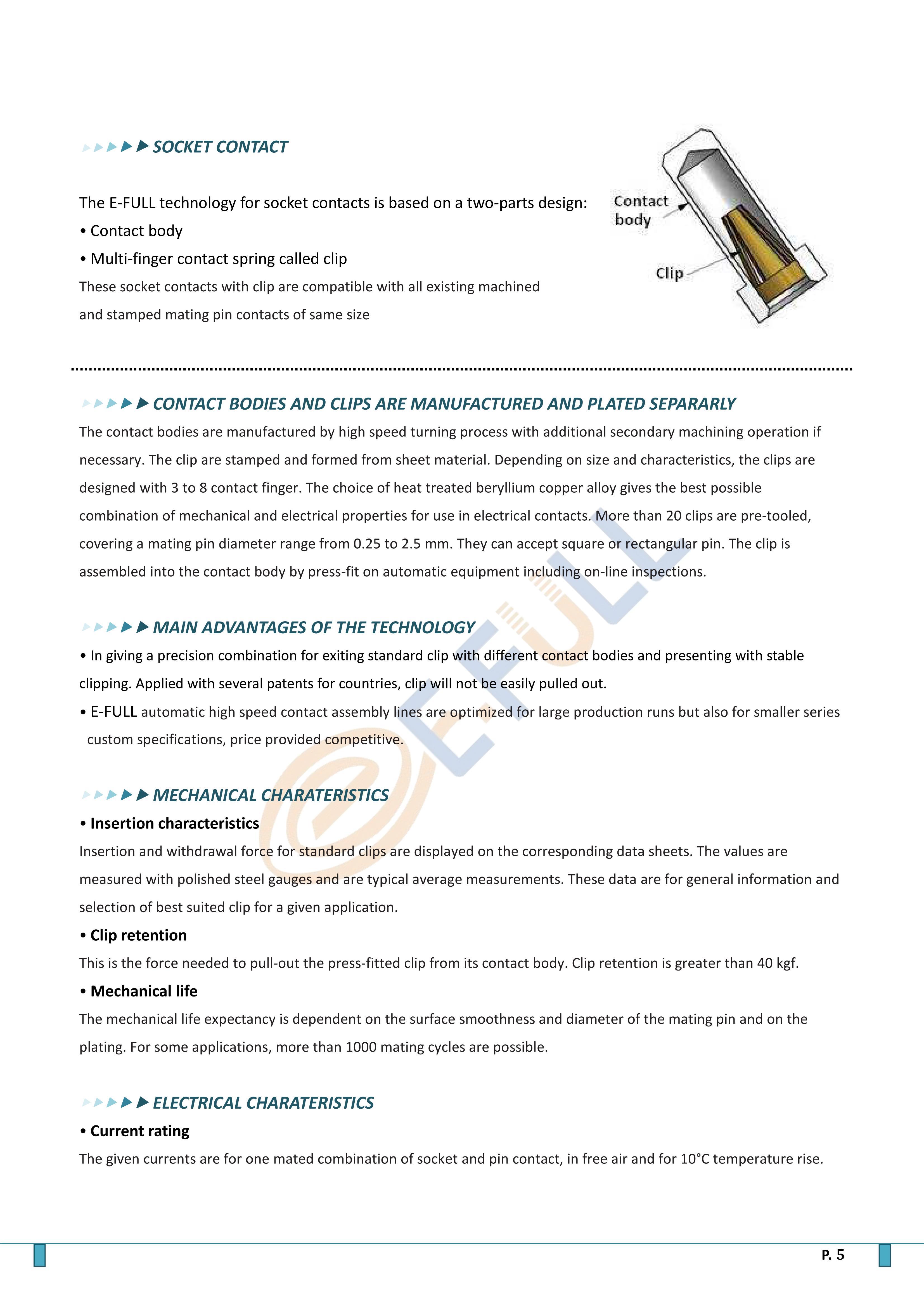 Pin contact (Male PCB pin)